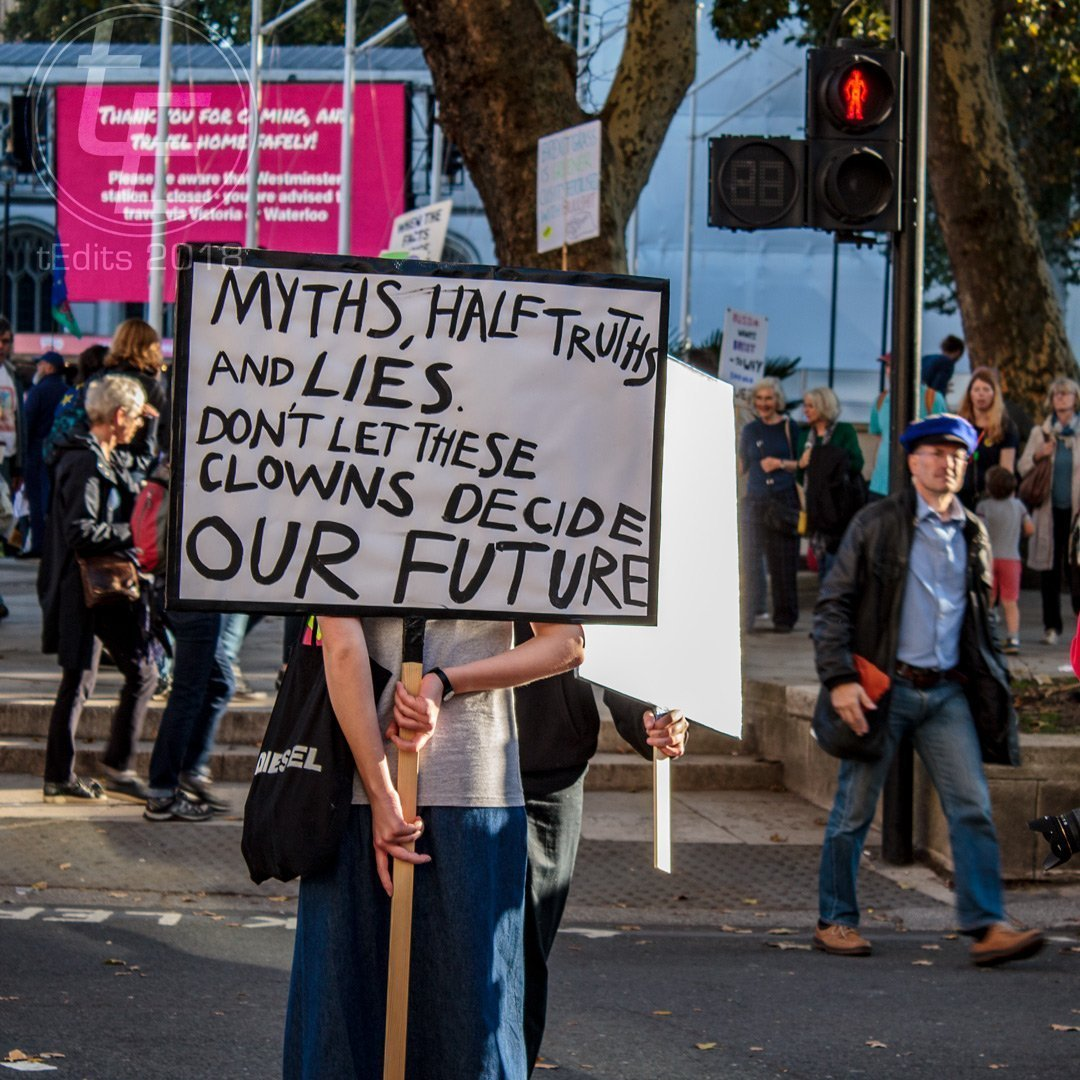 2018 People's Vote March - Myths, Half-Truths and Lies