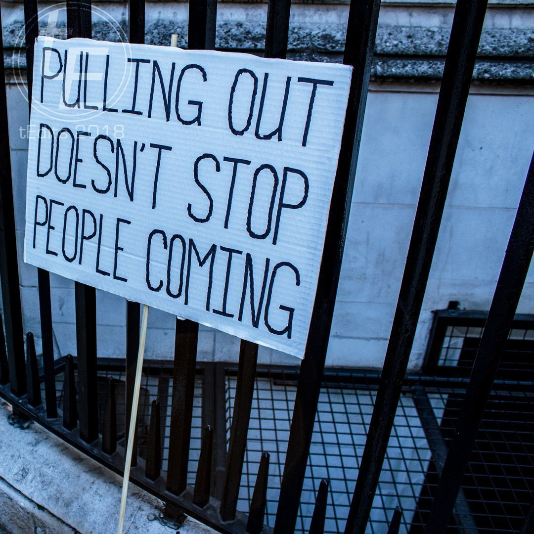 2018 People's Vote March - Pulling Out