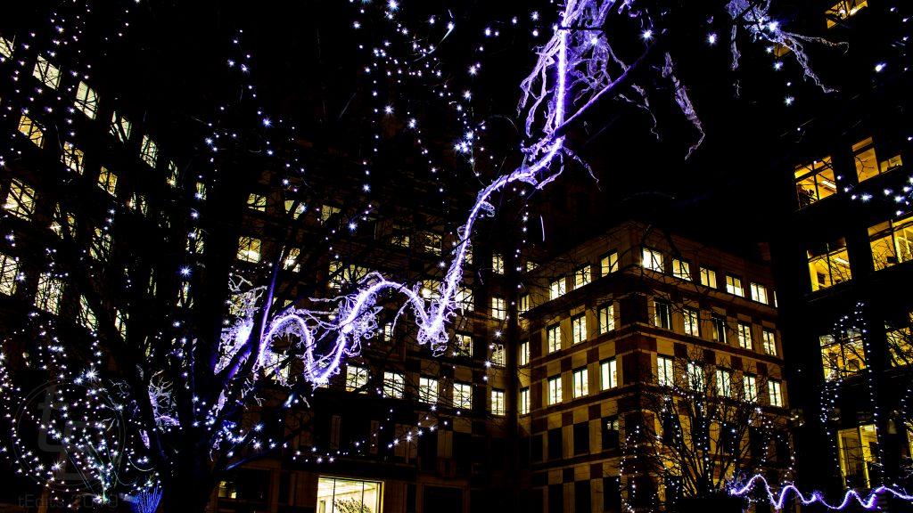 Canary Wharf Winter Lights 2019 - Blue Neuron, Zac Greening