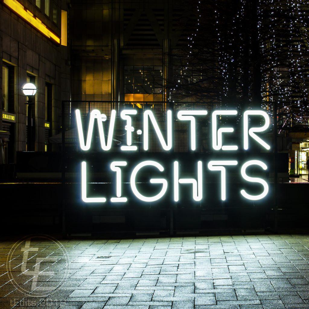Canary Wharf Winter Lights 2019 - Sign