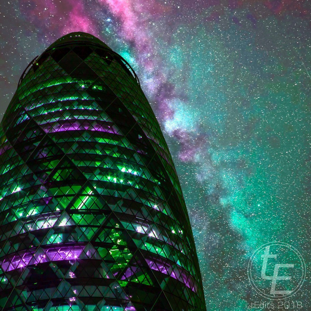 The Gherkin | Neon London | Poster