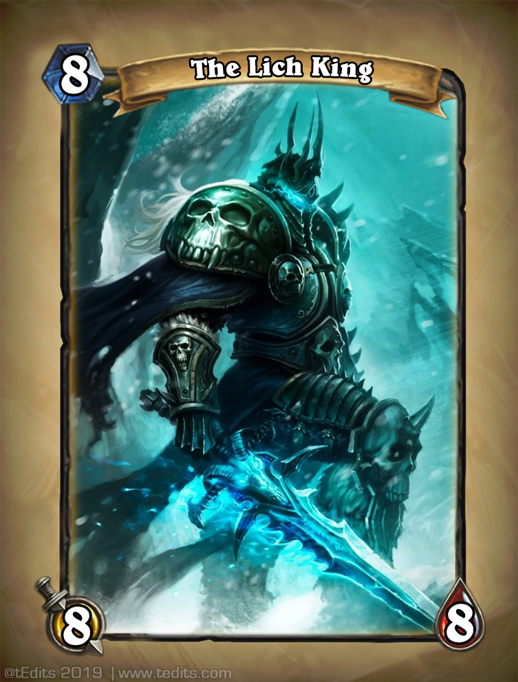 The Lich King Hearthstone Card Redesign Concept