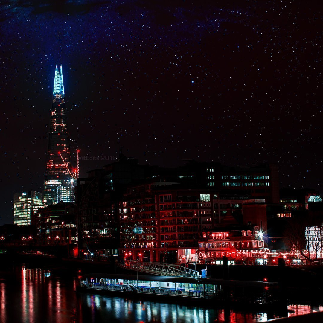 The Shard Dreamscape | Neon London | Metal Poster