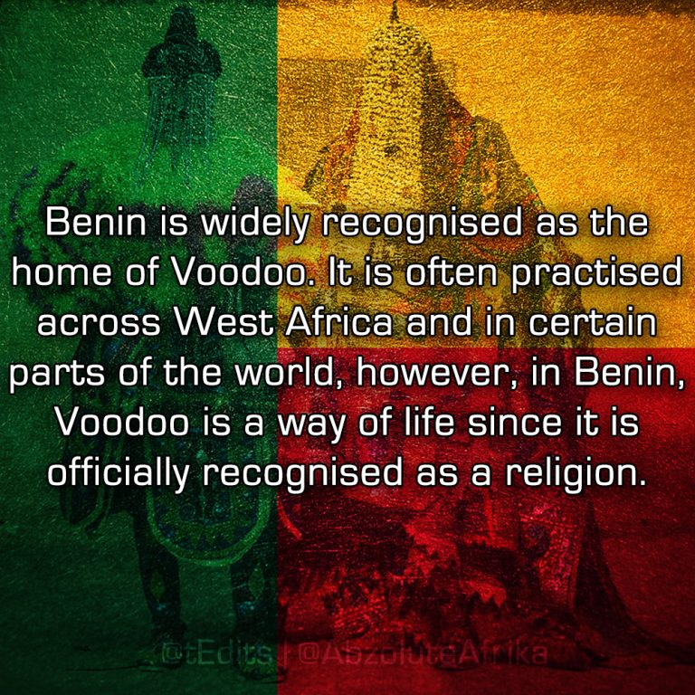 Benin is widely recognised as the home of Voodoo. It is often practised across West Africa and in certain parts of the world, however, in Benin, Voodoo is a way of life since it is officially recognised as a religion.