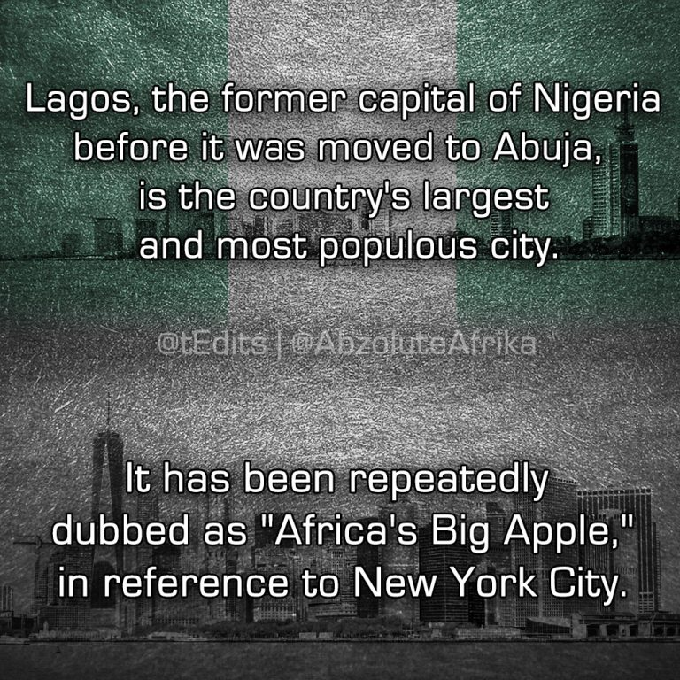 """Lagos, the former capital of Nigeria before it was moved to Abuja, is the country's largest and most populous city. It has been repeatedly dubbed as """"Africa's Big Apple,"""" in reference to New York City."""