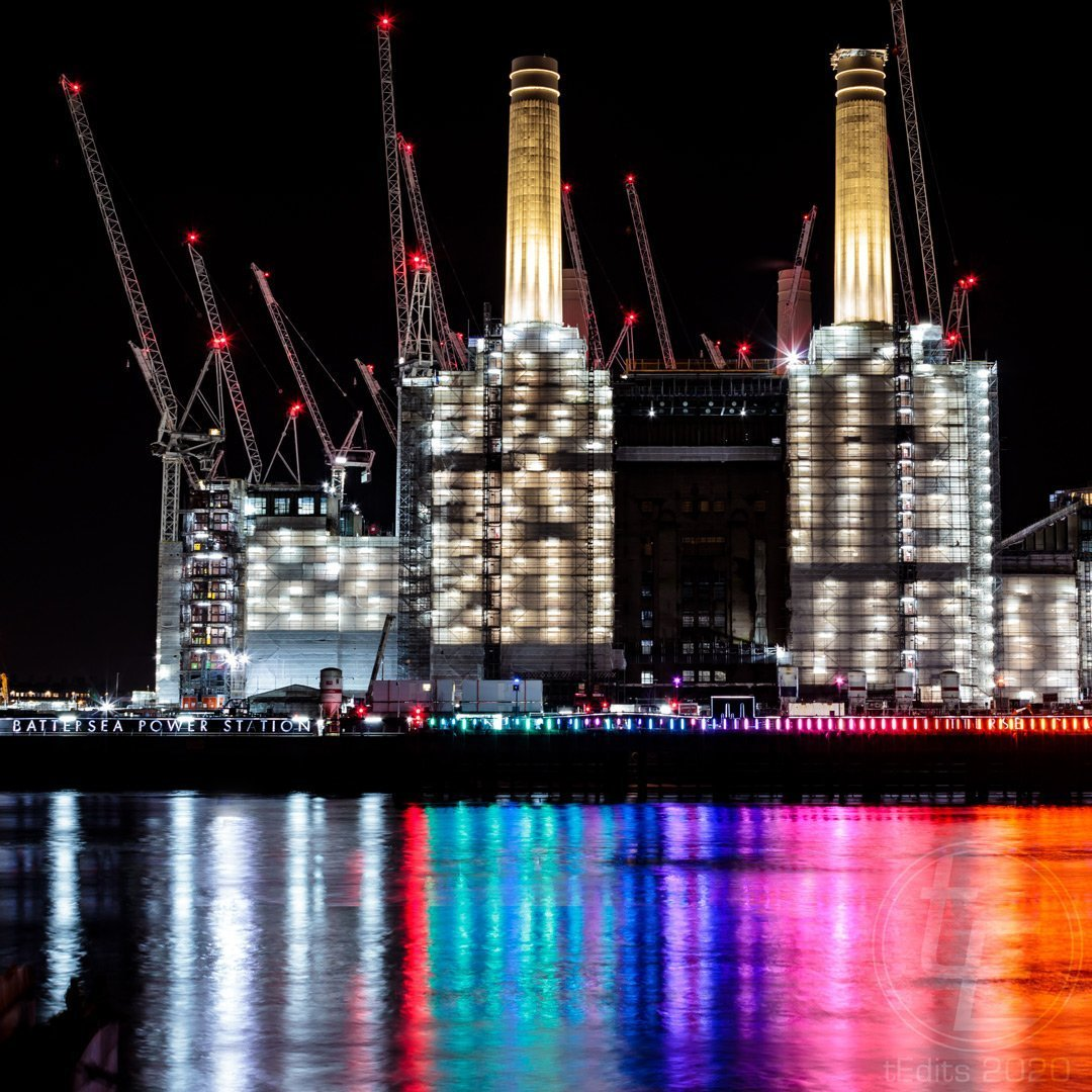 Battersea Power Station Lights