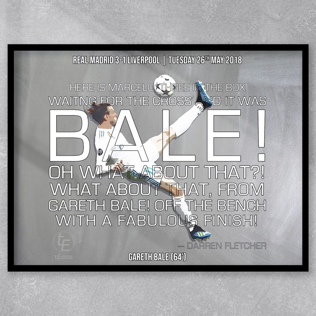 Gareth Bale vs Liverpool, 2018