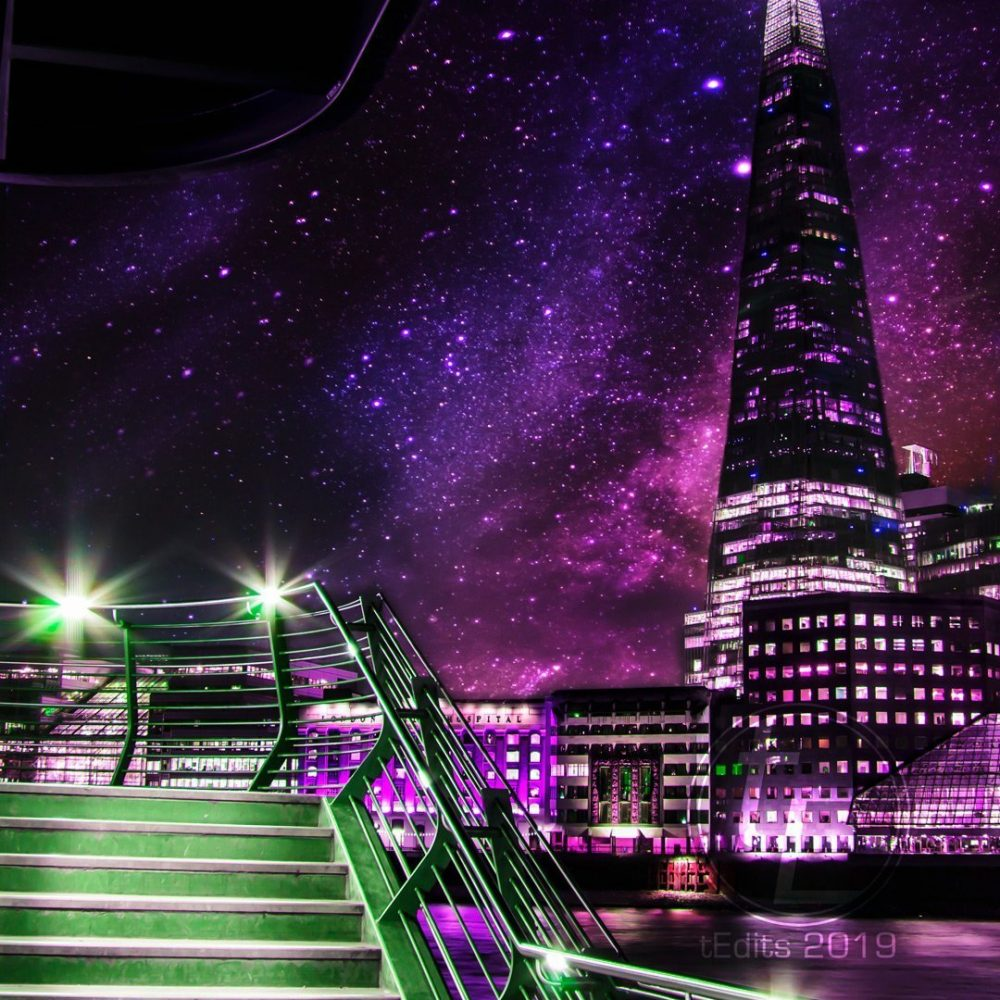 The Shard Stairs | Neon London | Poster