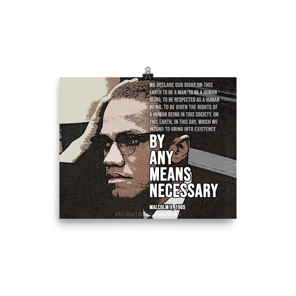 Malcolm X – By Any Means Necessary | Poster
