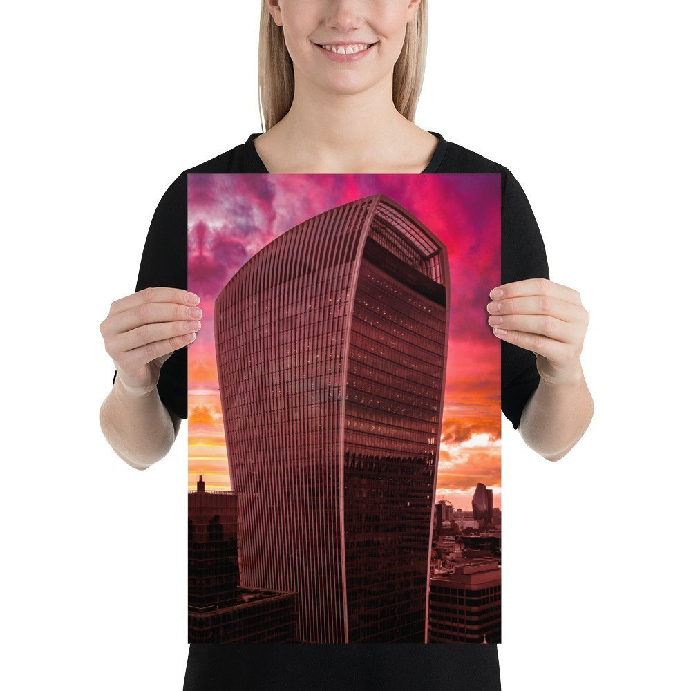 The Walkie Talkie | Neon London | Poster