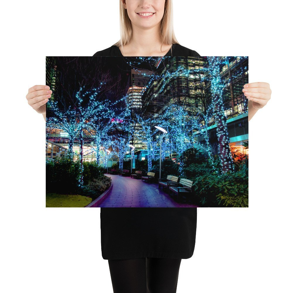 Canary Wharf, Jubilee Park | Neon London | Poster