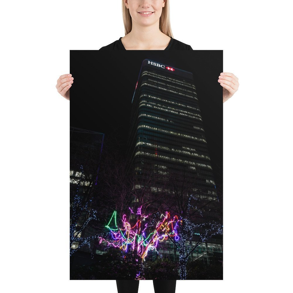 Neon Tree & HSBC | Canary Wharf Winter Lights 2020 | Poster