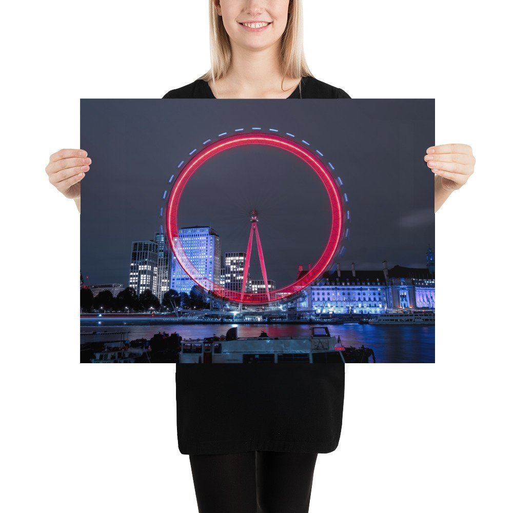 The London Eye | Neon London | Poster