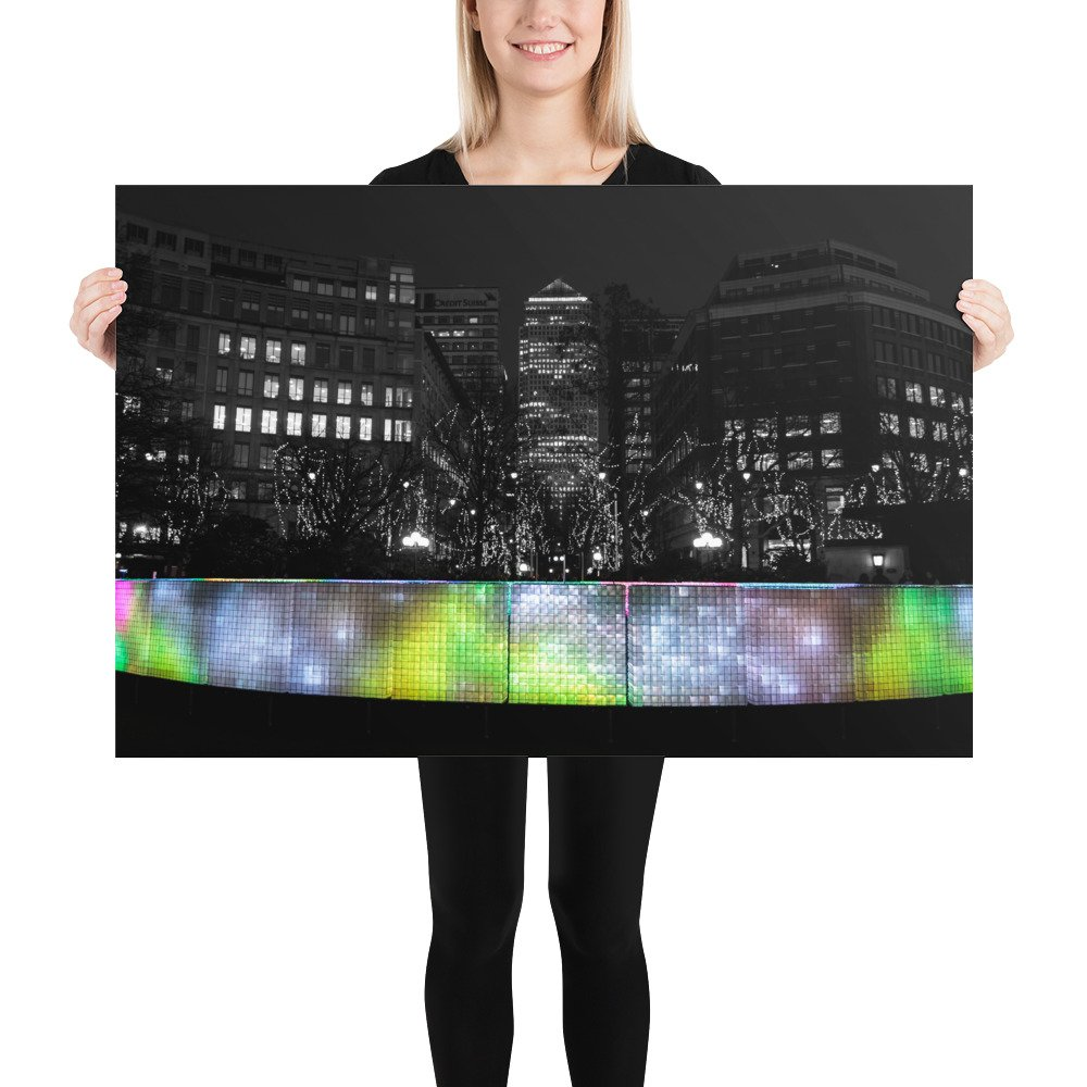 Lactolight by Jack Wimperis | Canary Wharf Winter Lights 2020 | Poster