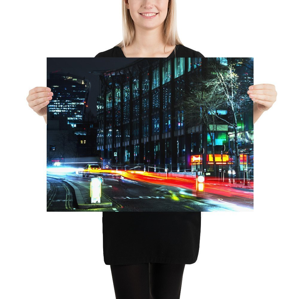 Police Chase | Neon London | Poster