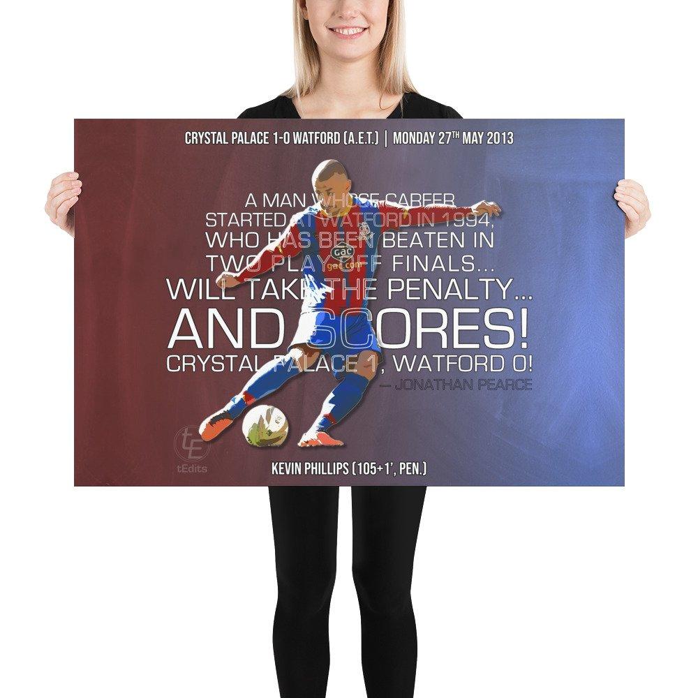 Kevin Phillips vs Watford, 2013   Poster