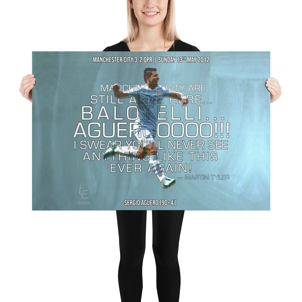 Sergio Aguero vs QPR, 2012 | Poster