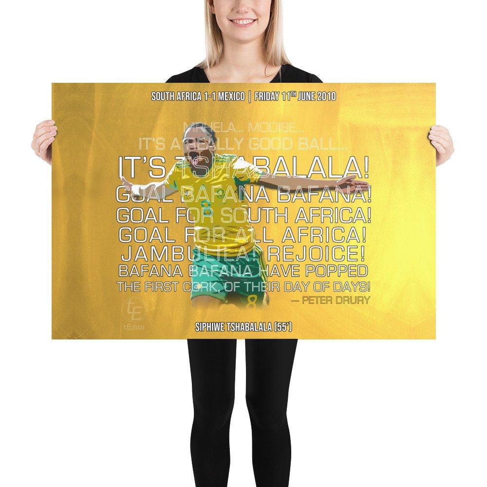 Siphiwe Tshabalala vs Mexico, 2010 | Poster