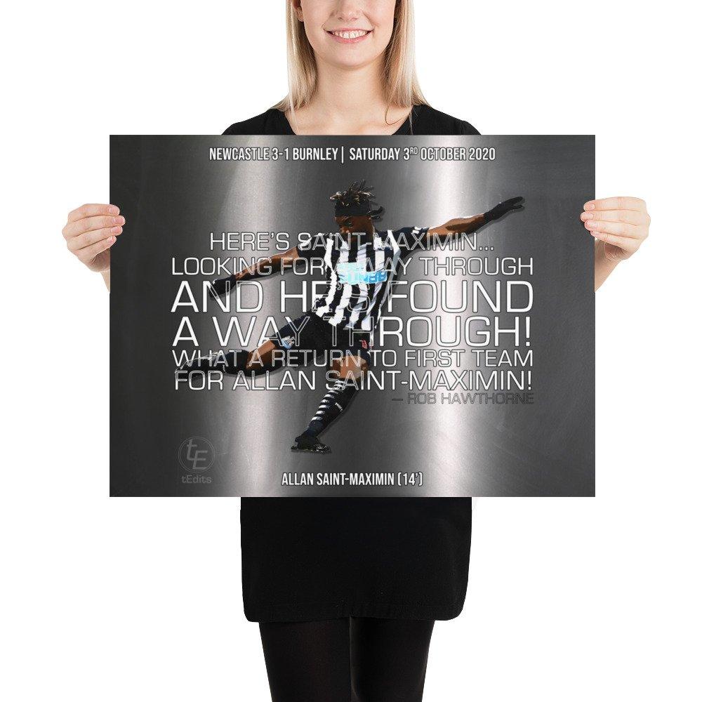 Allan Saint-Maximin vs Burnley, 2020 | Poster
