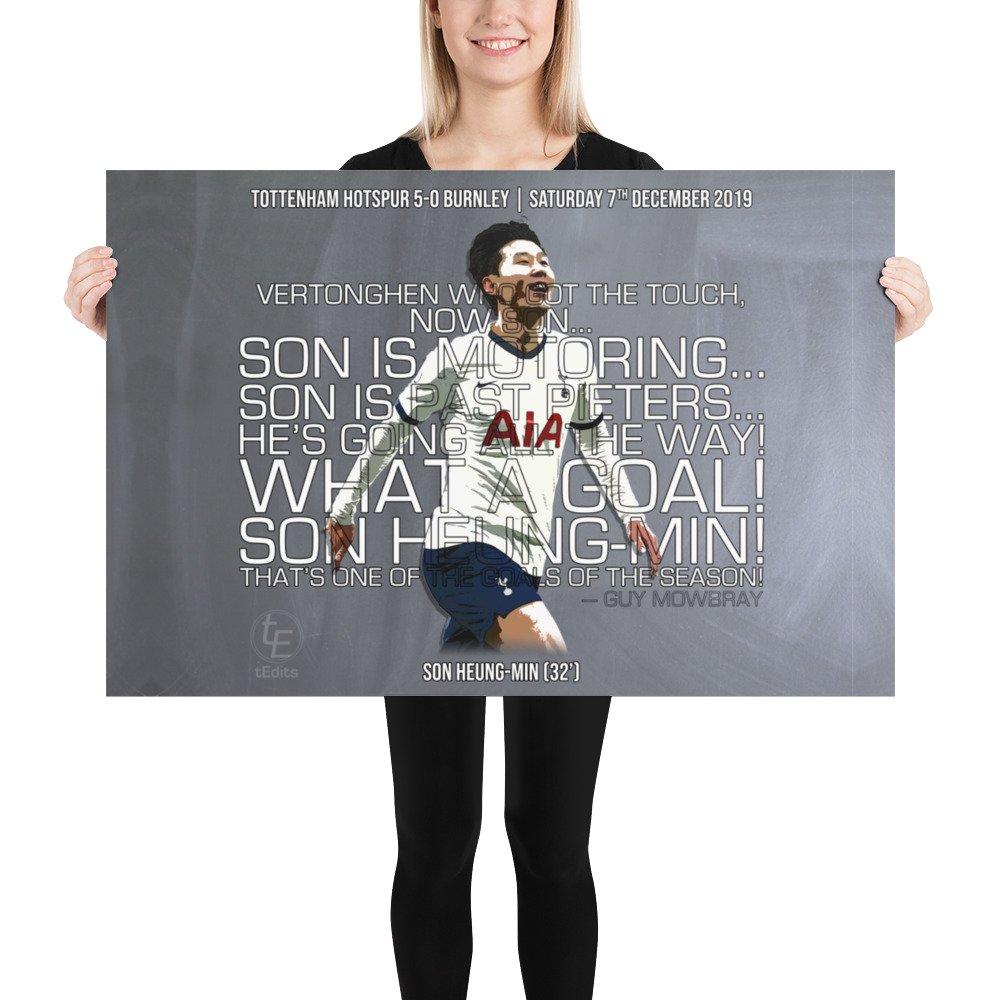 Son Heung-Min vs Burnley, 2019 | Poster