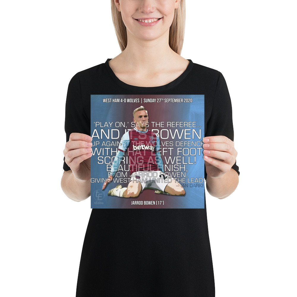 Jarrod Bowen vs Wolves, 2020 | Poster