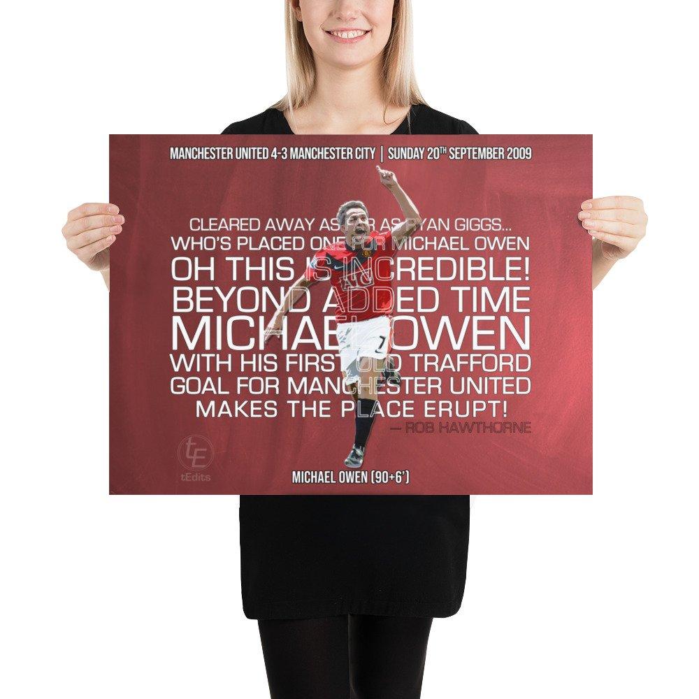 Michael Owen vs Manchester City, 2009   Poster