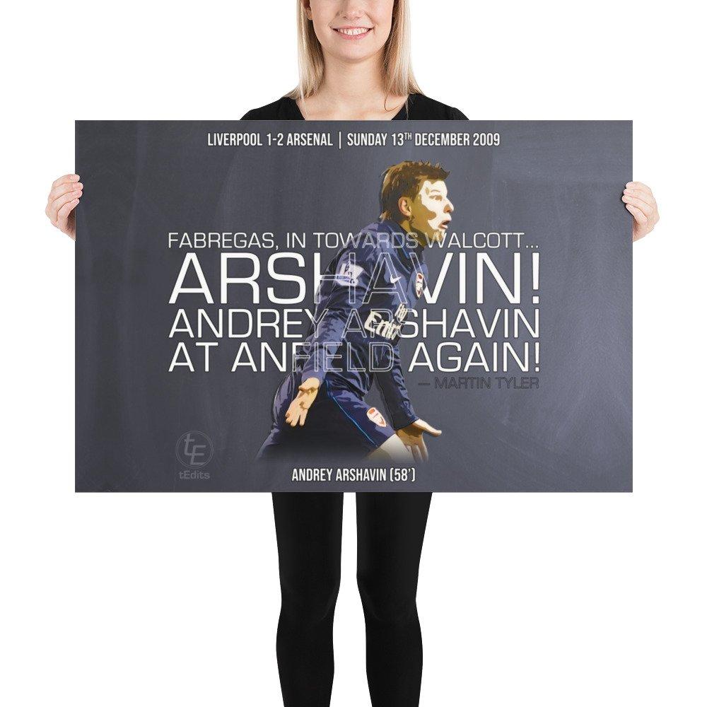 Andrey Arshavin vs Liverpool, December 2009 | Poster