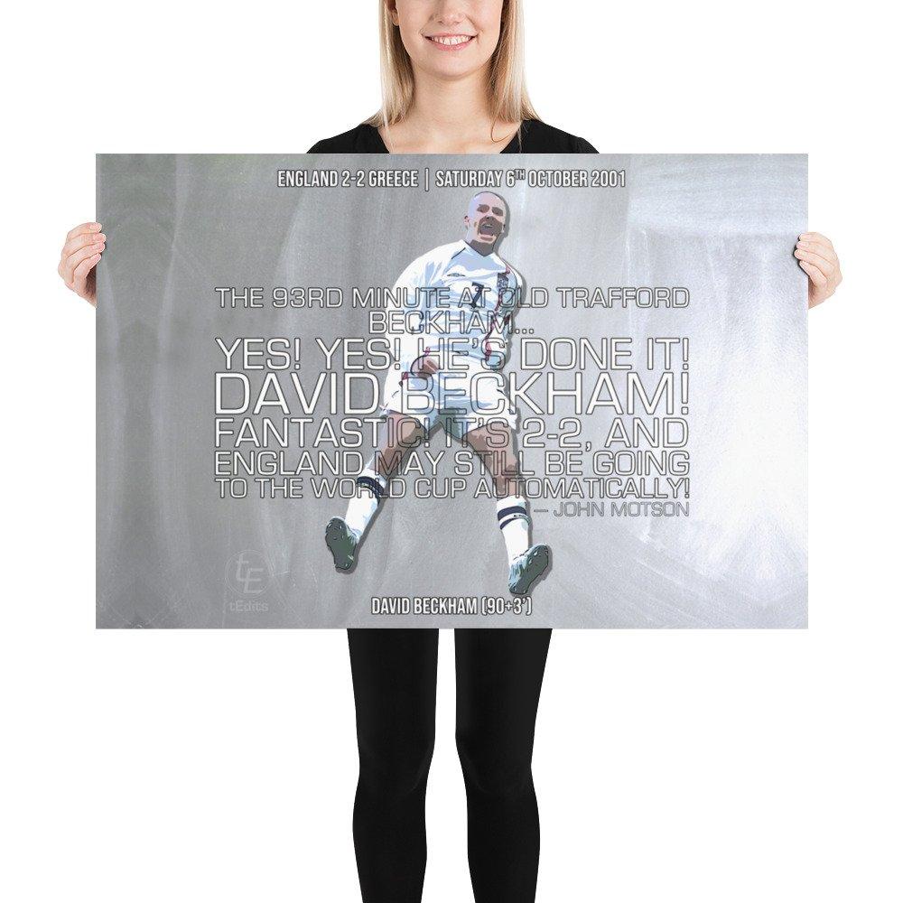 David Beckham vs Greece, 2001 | Poster