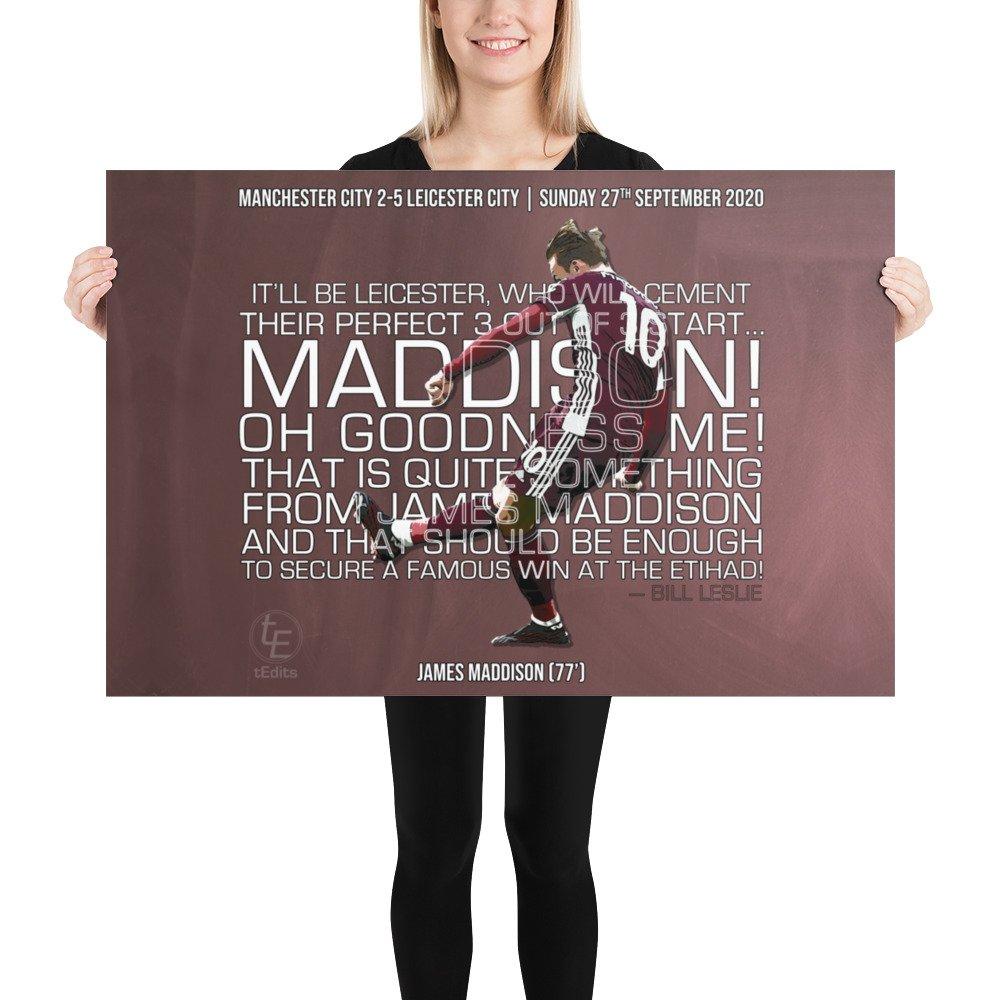 James Maddison vs Manchester City, 2020 | Poster