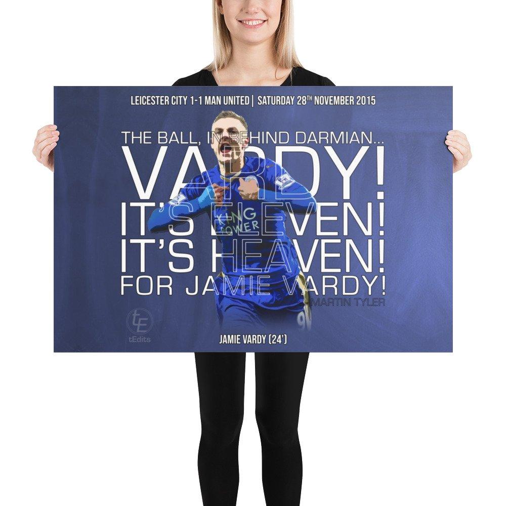 Jamie Vardy vs Man Utd, 2015 | Poster
