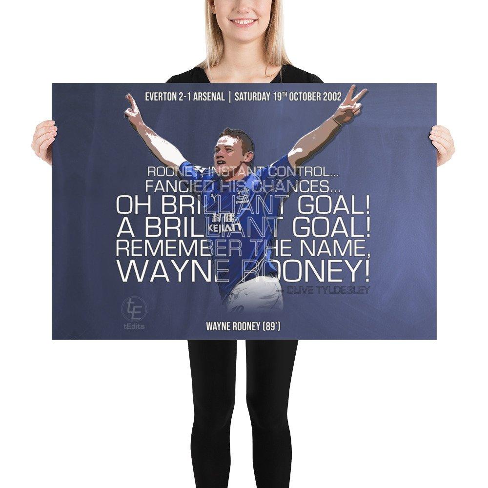 Wayne Rooney vs Arsenal, 2002   Poster