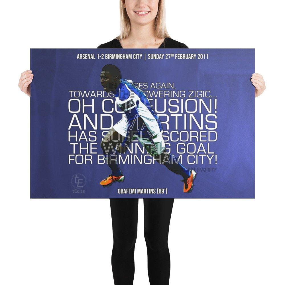 Obafemi Martins vs Arsenal, 2011   Poster