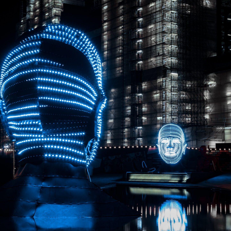Battersea Power Station Light Festival - Talking Heads 2
