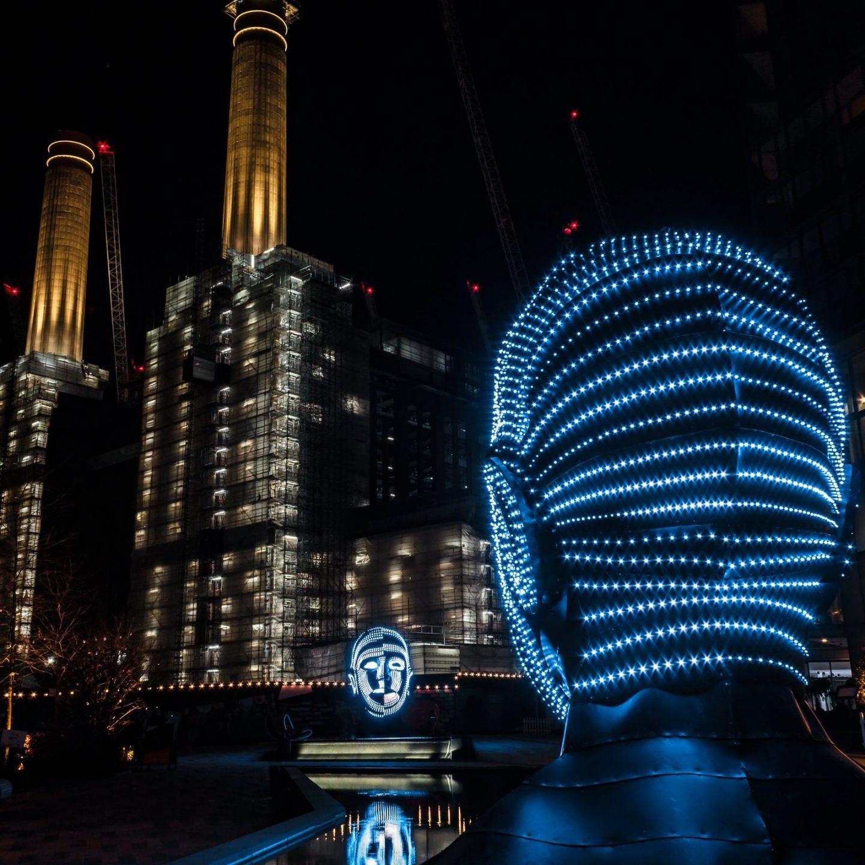 Battersea Power Station Light Festival - Talking Heads 4