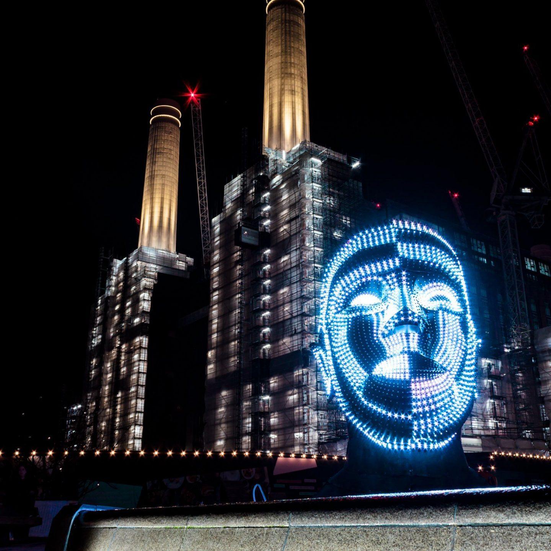 Battersea Power Station Light Festival - Talking Heads