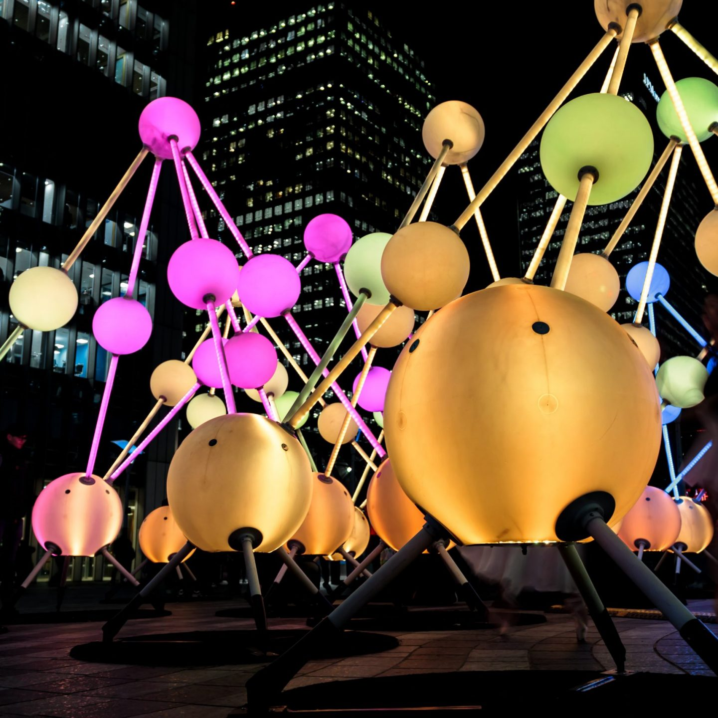Canary Wharf Winter Lights 2020 - Affinity by Amigo & Amgio and S1T2
